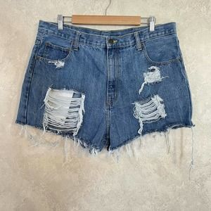 Arizona Heavily Distressed Relaxed Cut Off Shorts